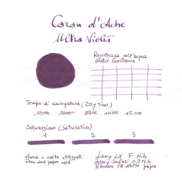 Caran d'Ache Ultra Violet 6 Ink Cartridges
