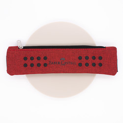Faber Castell Grip Pen Case with Elastic Band Red