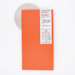 Traveler's Notebook 2020 Monthly Diary Regular Size