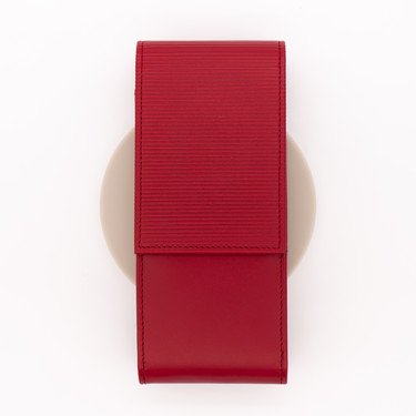 Lamy A316 Embossed Leather Pen Case for 3 Pens Red