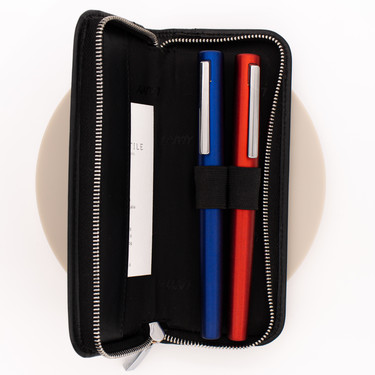 Lamy A403 Leather Zippered Pen Case for 2 Pens Black