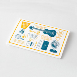 Traveler's Notebook Letterpress Card Travel Tools Blue Limited Edition