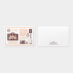 Traveler's Notebook Letterpress Card Travel Tools Brown Limited Edition