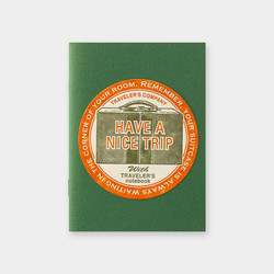 Traveler's Notebook Sticker Travel Tools Red Limited Edition