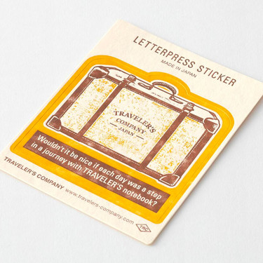 Traveler's Notebook Sticker Travel Tools Yellow Limited Edition