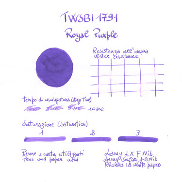 Twsbi 1791 Royal Purple Inchiostro 18 ml Edizione Limitata