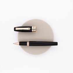 Montegrappa Fortuna Rollerball Pen Black Rose Gold