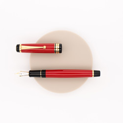 Pilot Custom 845 Urushi Fountain Pen Vermilion Red Ebonite