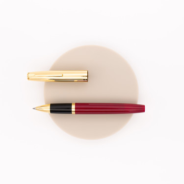 Aurora Duo Cart Rollerball Pen Burgundy & Gold