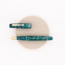 Leonardo Officina Italiana Momento Zero Fountain Pen Green Blue & Gold