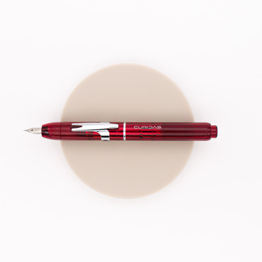Platinum Curidas Retractable Fountain Pen Gran Red