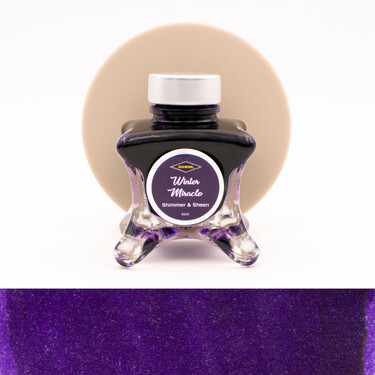 Diamine Inkvent Winter Miracle Inchiostro 50 ml Blue Edition Shimmer & Sheen
