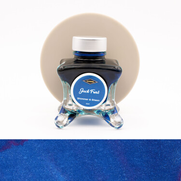 Diamine Inkvent Jack Frost Inchiostro 50 ml Blue Edition Shimmer & Sheen