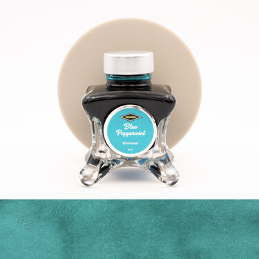 Diamine Inkvent Blue Peppermint Inchiostro 50 ml Blue Edition Shimmer