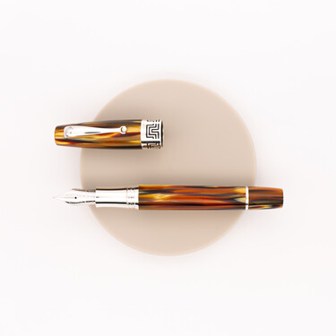 Montegrappa Extra 1930 Fountain Pen Turtle Brown Celluloid