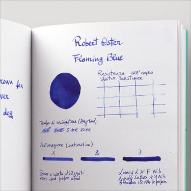 Robert Oster Flaming Blue Ink Bottle 50 ml