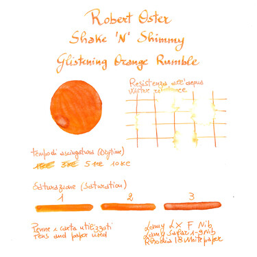 Robert Oster Shake 'N' Shimmy Glistening Orange Rumble Ink Bottle 50 ml