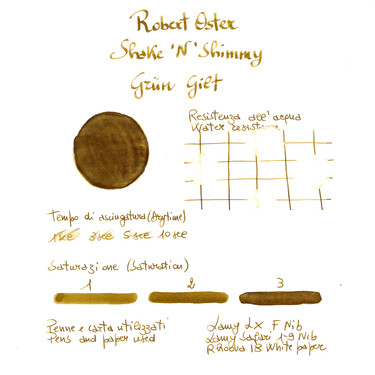 Robert Oster Shake 'N' Shimmy Grun Gilt Ink Bottle 50 ml