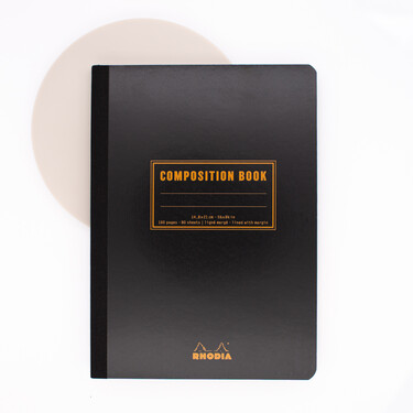 Rhodia Composition Book A5 Lined Black