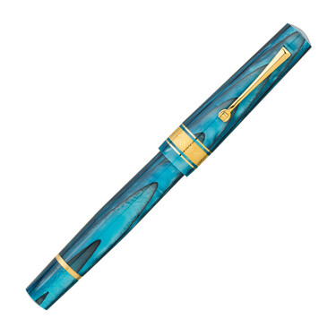 Leonardo Officina Italiana Cuspide Fountain Pen Blue Sea & Gold Limited Edition