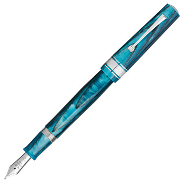Leonardo Officina Italiana Cuspide Fountain Pen Blue Sea & Rhodium Limited Edition