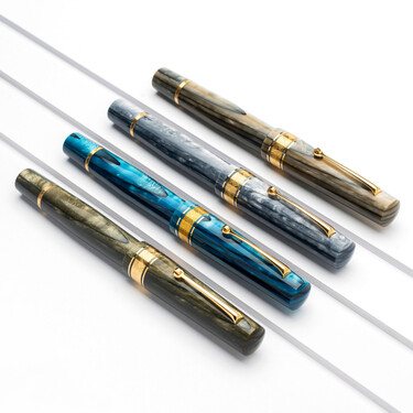 Leonardo Officina Italiana Cuspide Fountain Pen Nocciola & Gold Limited Edition