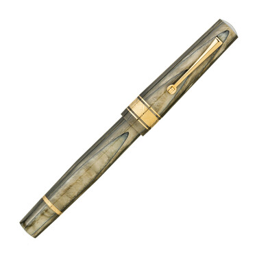 Leonardo Officina Italiana Cuspide Fountain Pen Olive Green & Gold Limited Edition