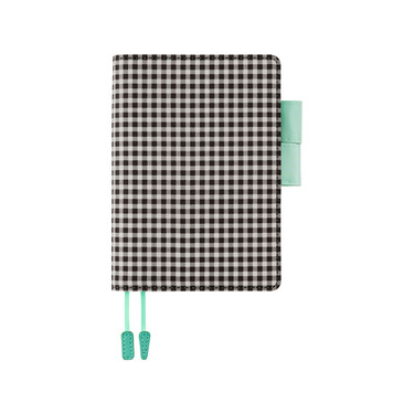 Hobonichi Techo Planner A6 Black Gingham Set Cover + 2021 Diary