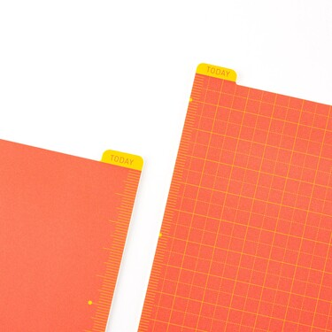 Hobonichi Pencil Board for Cousin A5 Warm Red x Yellow