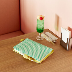 Hobonichi Techo Cousin A5 Apple Green Gingham Set Cover + 2021 Diary