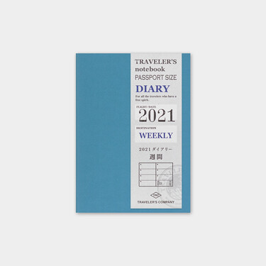 Traveler's Notebook Refill 2021 Weekly Diary Passport Size