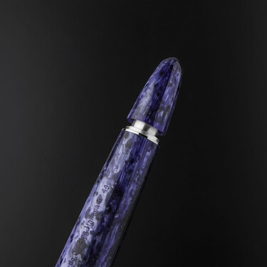 Leonardo Officina Italiana Furore Grande Fountain Pen Bleu Hawaii 14 KT Gold Nib
