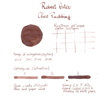 Robert Oster Choc Pudding Ink Bottle 50 ml Special Edition