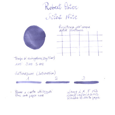 Robert Oster Silent Nite Ink Bottle 50 ml Special Edition