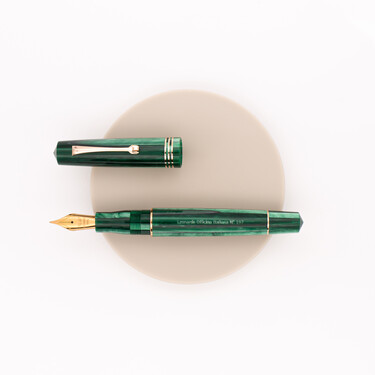 Leonardo Officina Italiana Momento Zero Fountain Pen Alga Green & Rose Gold