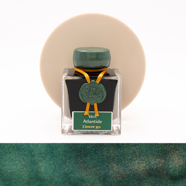Jacques Herbin Vert Atlantide Ink Bottle 50 ml 350th Anniversary Limited Edition