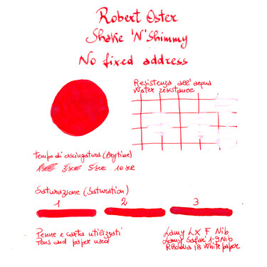 Robert Oster Shake 'N' Shimmy No Fixed Address Inchiostro 50 ml