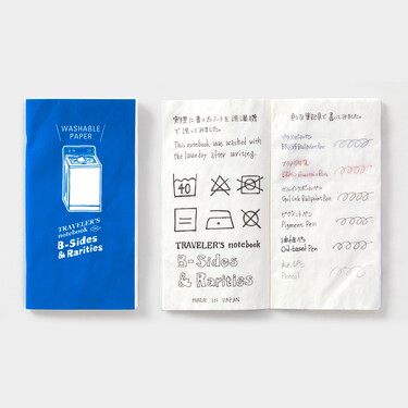 Traveler's Notebook B-Sides & Rarities Refill Regular Size Washable Paper Limited Edition