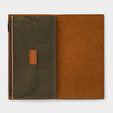 Traveler's Notebook B-Sides & Rarities Cotton Zipper Case Regular Size Olive Limited Edition