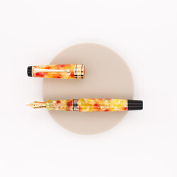 Aurora Optima Caleidoscopio Fountain Pen Luce Gialla Limited Edition