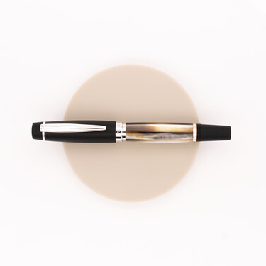 Opus 88 Premium Shell Fountain Pen Black Mother of Pearl