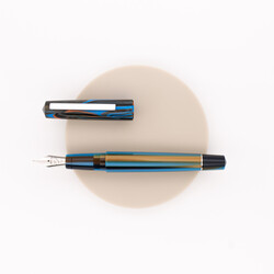 Tibaldi Infrangibile Fountain Pen Peacock Blue