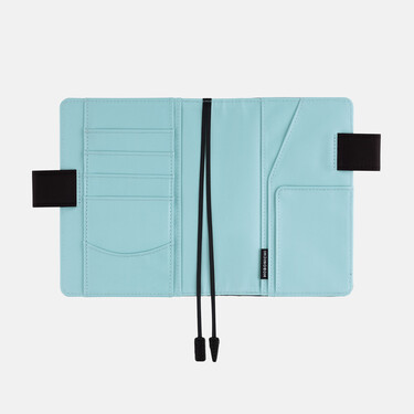 Hobonichi Techo Planner A6 Black x Clear Blue Set Cover + 2022 Diary