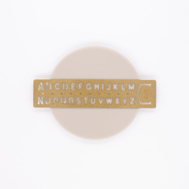 Traveler's Company Brass Template Bookmark Alphabet