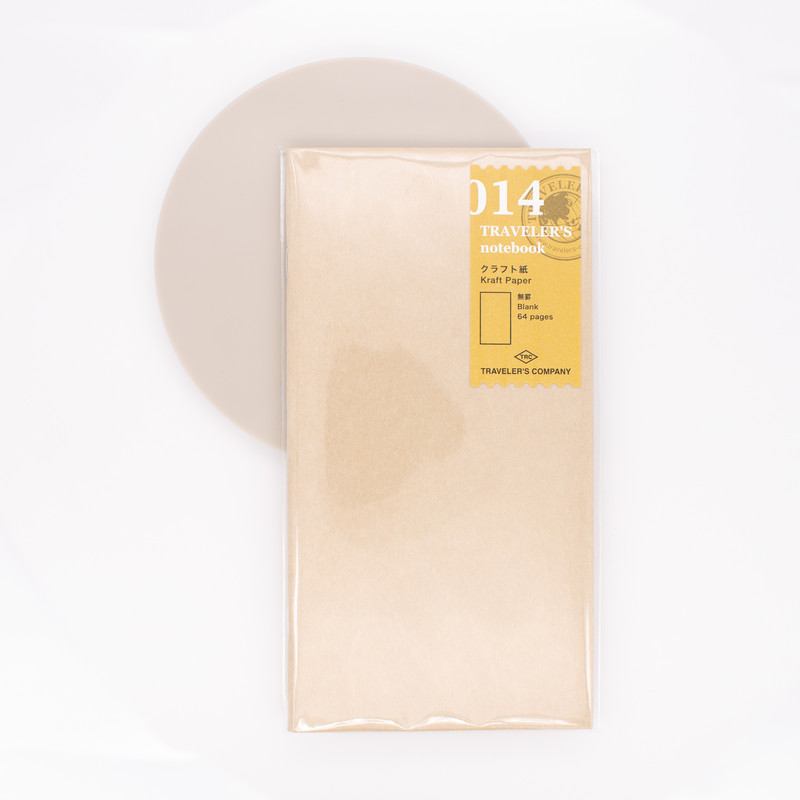 Traveler's Notebook Refill 014 Regular Size Kraft Paper Notebook