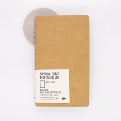 Traveler's Company Spiral Ring Notebook A5 Slim Blank MD Paper