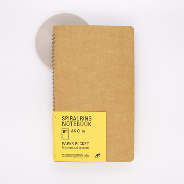Traveler's Company Spiral Ring Notebook A5 Slim Paper Pocket
