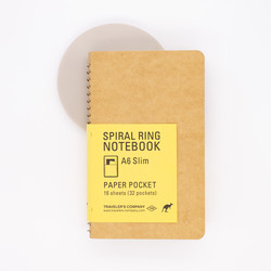 Traveler's Company Spiral Ring Notebook A6 Slim Paper Pocket