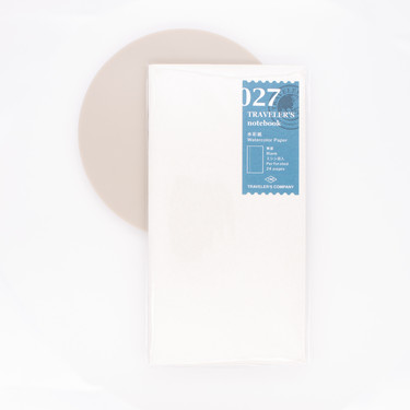 Traveler's Notebook Refill 027 Regular Size Watercolor Paper Notebook