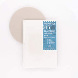 Traveler's Notebook Refill 015 Passport Size Watercolor Paper Notebook